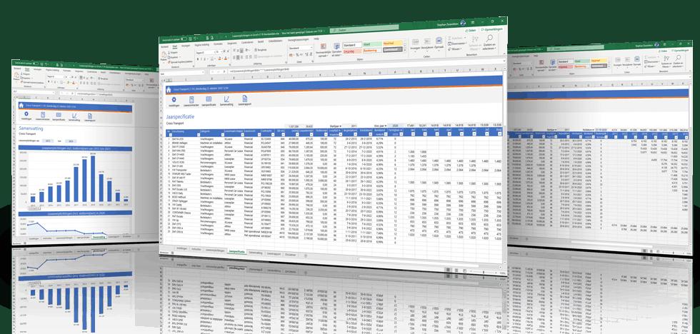 Registreer en beheer al je leasecontracten in Excel